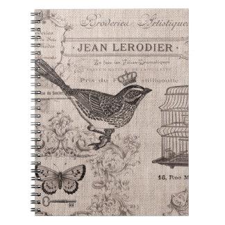 Vintage French Bird notebook