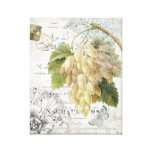 Vintage French Botanical Grapes stretched canvas Stretched Canvas Prints