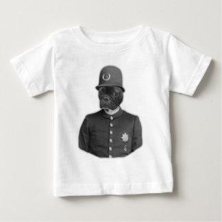 Vintage French Bulldog Policeman Baby T-Shirt