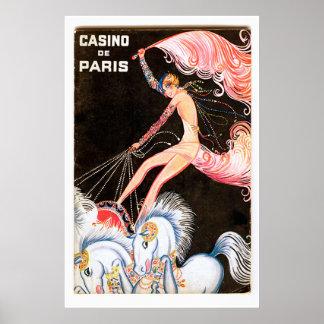 Vintage French Cabaret Poster Print