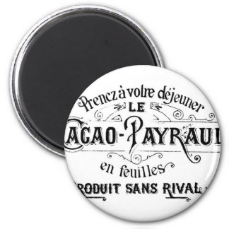 Vintage French Cacao - Payraud Ad 6 Cm Round Magnet