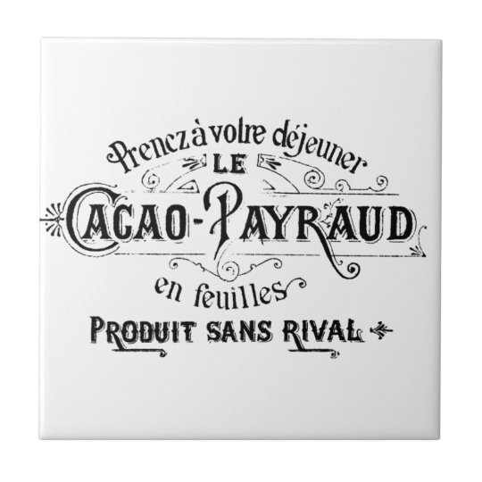 Vintage French Cacao - Payraud Ad Tile