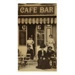 Vintage French cafe bar scene Pack Of Standard Business Cards