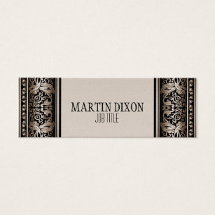 Modern vintage french business cards business card printing vintage french camel brown modern slim calling mini business card reheart Gallery