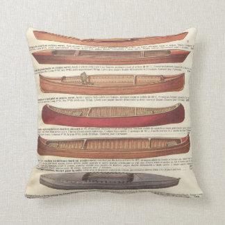 Vintage french canoe catalogue (1931) cushion