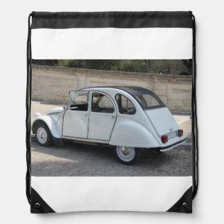 Vintage French car Drawstring Bag