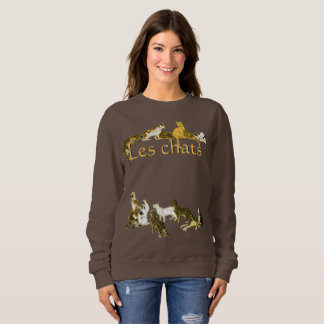 Vintage French Cats Les Chats Art Sweatshirt