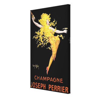 Vintage French Champagne Canvas Print
