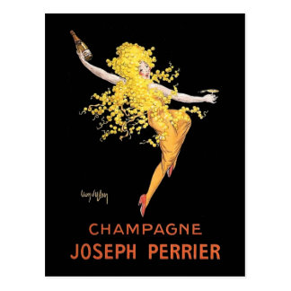 Vintage French Champagne Postcard