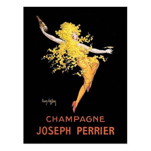 Vintage French Champagne Postcard