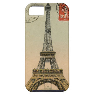 Vintage French Chic Eiffel Tower Paris Postcard iPhone 5 Covers