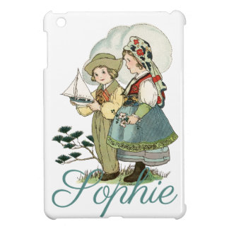 Vintage French Children Personnalised iPad Mini Cover