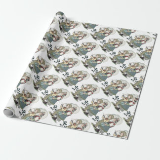 Vintage French Children Wrapping Paper