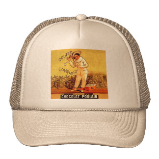 Vintage French Chocolate Clown Party Games Trucker Hat