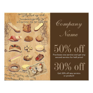 vintage french chocolate pastry cookies bakery flyers