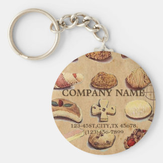 vintage french chocolate pastry cookies bakery key chain