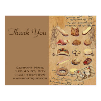 vintage french chocolate pastry cookies bakery postcard