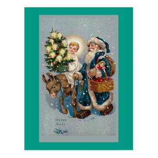 Vintage French Christmas Card Postcard