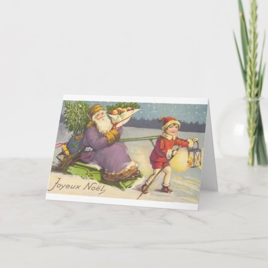 Vintage French Christmas Greeting Card