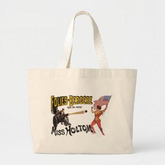 Vintage French Circus Sideshow Poster Jumbo Tote Bag