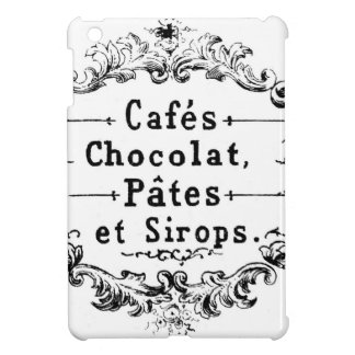 Vintage French Coffee & Chocolate Label iPad Mini Cover