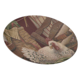 Vintage French Country Hen Plate