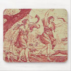 Vintage French Country Red Toile Mousepad