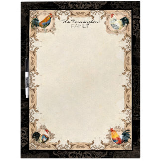 Vintage French Damask Spangled Allen Setter Dry Erase Board