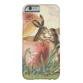 Vintage French Easter bunnies Barely There iPhone 6 Case