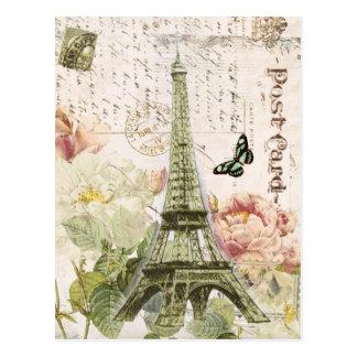 Vintage French Eiffel Tower postcard