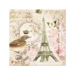 Vintage French Eiffel Tower stretched canvas Stretched Canvas Print