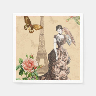 Vintage french fashion elegant paper napkins
