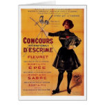Vintage French Fencing Competition Advertisement! Cards
