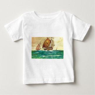 Vintage French Fishing boats at sea Tee Shirt