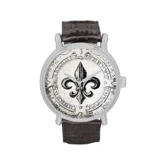 Vintage French fleur de lis watch