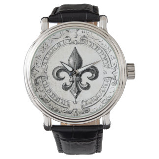 Vintage French fleur de lis watch