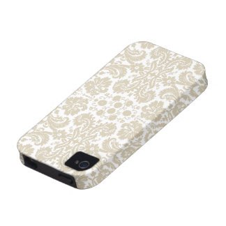 Vintage french floral art nouveau pattern Case-Mate iPhone 4 cases