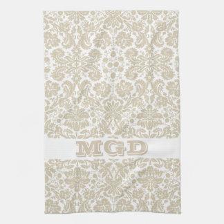 Vintage french floral art nouveau pattern tea towel