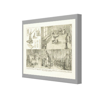 Vintage French Food, Butter churning Canvas Print