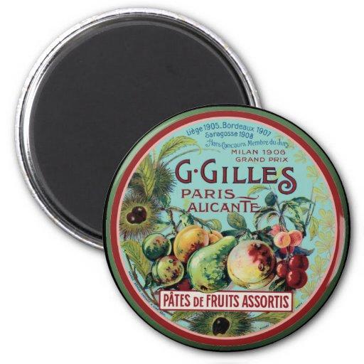 Vintage French Fruit Label Fridge Magnet