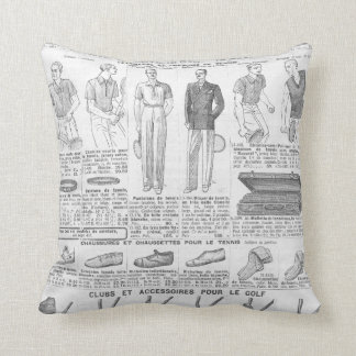 Vintage french golf catalogue (1931) throw pillow