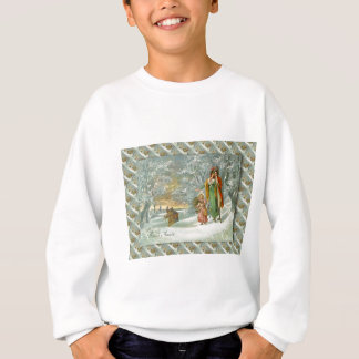 Vintage French Greetings, A walk in the forest Sweatshirt