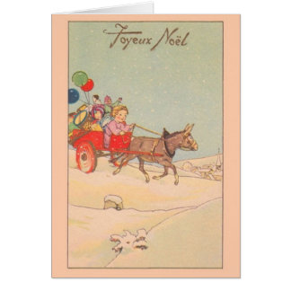 Vintage French Joyeux Noël Christmas Card
