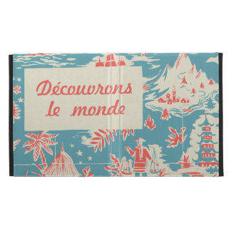 Vintage French Kids Book Cover iPad Folio Cover