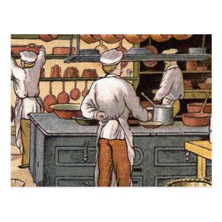 Vintage French Kitchen Postcard