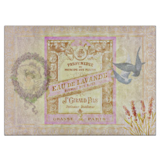 Vintage French Lavender Perfume Collage Cutting Board