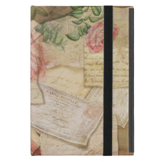 Vintage French Letters and Post Cards Case For iPad Mini