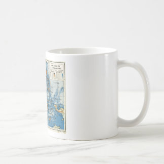 Vintage French map of Indonesia Coffee Mug