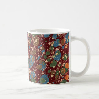 Vintage French Marbled Paper Coffee Mug