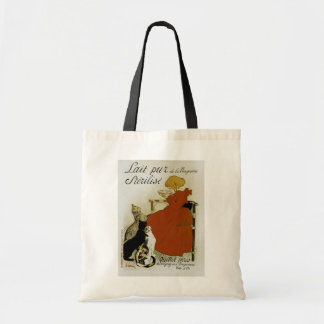 Vintage French Milk Ad Tote Bag